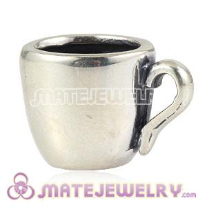 Wholesale European Sterling Silver Coffee Mug Charm Beads
