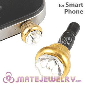 Anti Dust Earphone Jack Plug Accessory With Clear Crystal For Smart Phone