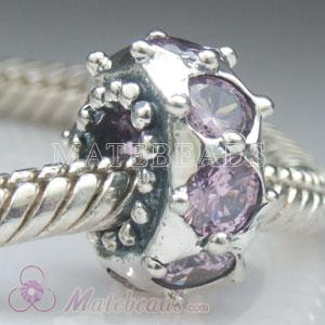 Silver Bead with Amethyst