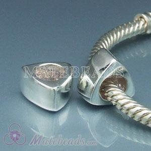 European sterling silver triangle beads