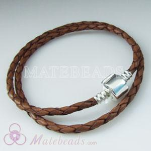 40cm brown European leather bracelet