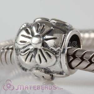 antique silver flower beads
