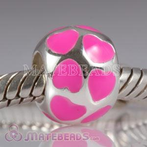 European style pink loves charms