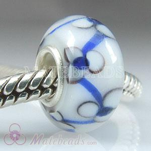 European style Three petals Lampwork glass beads