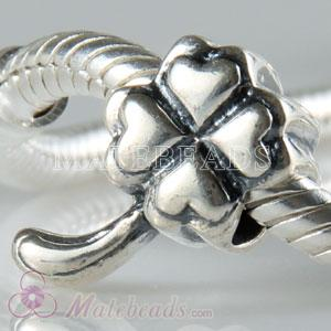 Antique silver Four Leaf Clover charms