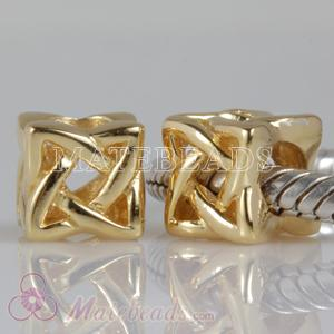 Gold Plated Silver Celtic Cube Beads