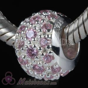 European jewellery silver Lovecharmlinks bead with stones