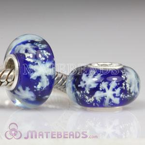 Environmental Material Snowflake Glass Beads