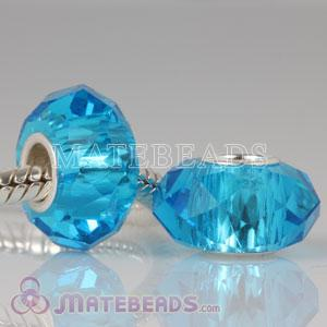 Blue Crystal Glass Faceted Round Loose Beads