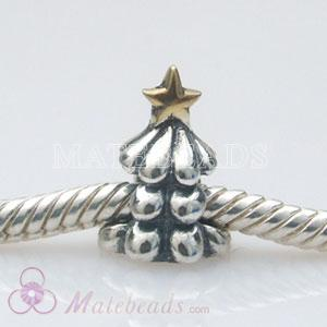 European christmas tree charm with gold david star