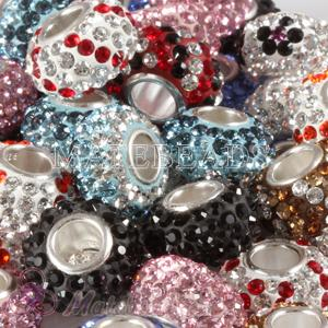 Mix 50 Pcs 7x12 Different Styles Austrian crystal European Austrian crystal charm