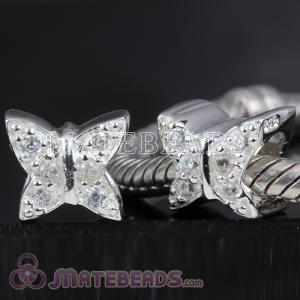 Baci charms beads with Butterfly stones