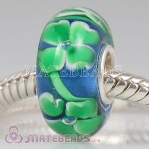 European style four-leaf clover Lampwork glass beads