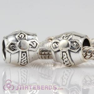 European Style Sterling Silver Cross Beads