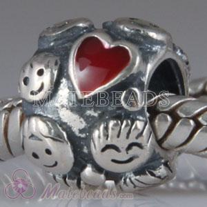 European Sterling Silver Family Beads