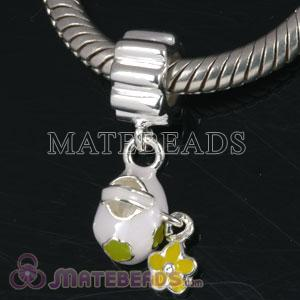 European charm with green flower dangle