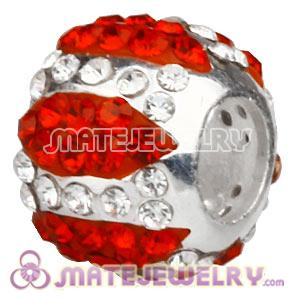 925 Sterling Silver Charm Beads With Austrian Crystal