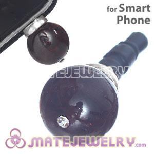 10mm Red Agate Mobile Earphone Jack Plug Fit iPhone