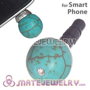 10mm Green Turquoise Mobile Earphone Jack Plug Fit iPhone