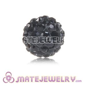 Wholesale Cheap Price 8mm Black Handmade Pave Crystal Beads