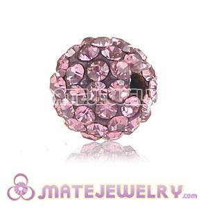 Wholesale Cheap Price 8mm Pink Handmade Pave Crystal Beads