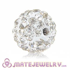 Wholesale Cheap Price 10mm White Handmade Pave Crystal Beads