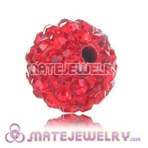 Wholesale Cheap Price 10mm Red Handmade Pave Crystal Beads