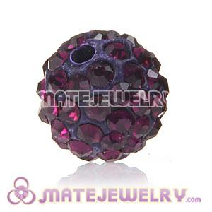 Wholesale Cheap Price 10mm Fuchsia Handmade Pave Crystal Beads