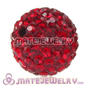 Wholesale Cheap Price 12mm Handmade Pave Red Crystal Beads