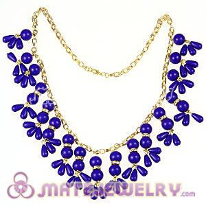 2012 New Fashion Dark Blue Bubble Bib Statement Necklace