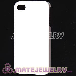 White Plastic Protective Back Cases For iPhone 4 iPhone 4S Wholesale