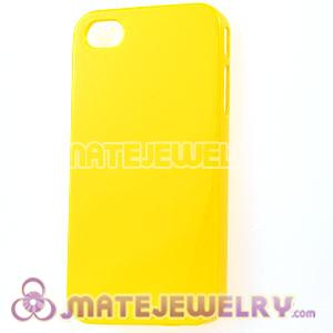 Yellow Plastic Protective Back Cases For iPhone 4 iPhone 4S Wholesale