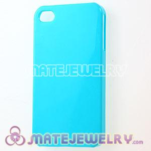Cyan Plastic Protective Back Cases For iPhone 4 iPhone 4S Wholesale