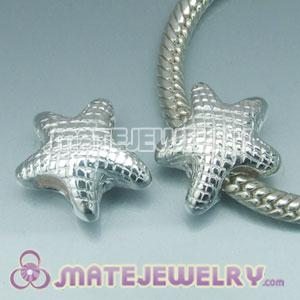 Solid Sterling Silver European Style Starfish Beads and Charms
