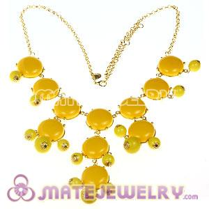 2012 New Fashion Yellow Bubble Bib Statement Necklace