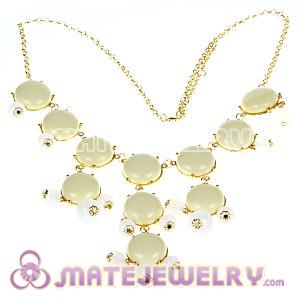 2012 New Fashion Ivory Bubble Bib Statement Necklace