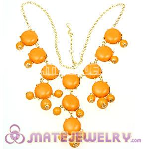 New Fashion Yolk Yellow Bubble Bib Statement Necklace