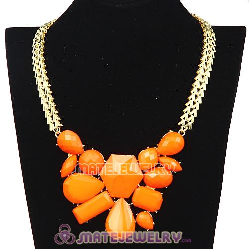 Chunky Chain Candy Resin Geometry Choker Bib Necklace Wholesale