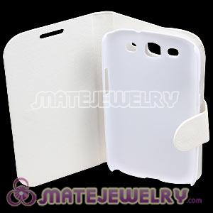 Classic White Leather FlipStand Hybrid Cases For Samsung Galaxy S3 i9300