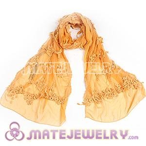 Fashion Office Lady Chiffon Pashmina Shawls Georgette Hollow Lace Scarf Wholesale