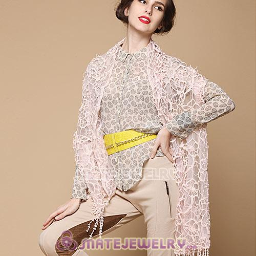 Fashion Office Lady Bohemia Style Scarves Openwork Lace Chiffon Pashmina Shawls Wholesale
