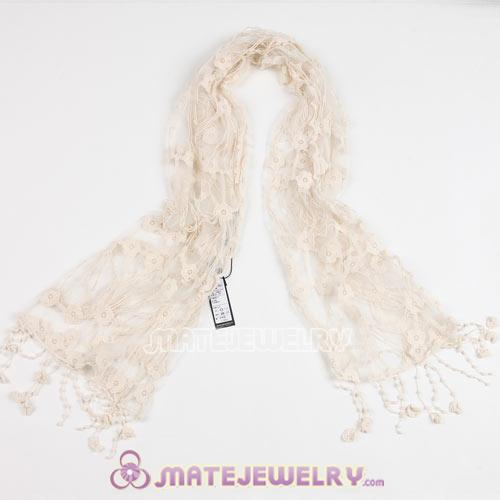 Fashion Eurppean Rural Pastoral Scarf Lace Tassels Pashmina Scarves Wholesale