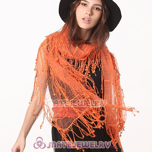 Wholesale Indian Rural Pastoral Style Shawls Scarf Lace Tassels Pashmina Scarves