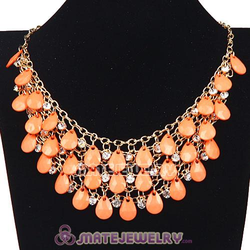 Multilayers Cascade Resin Crystal Bubble Bib Necklaces Wholesale