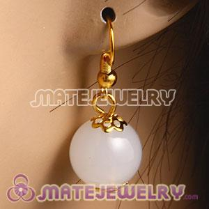 Fashion Gold Plated Ivory Hoop Plastic Bubble Earrings Wholesale