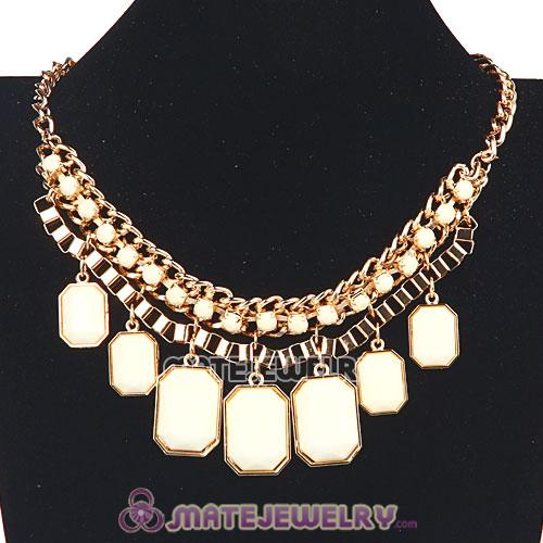 Wholesale Chunky Resin Diamond Choker Bib Necklaces