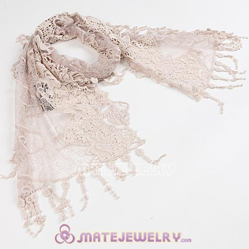 New Arrival Autumn And Winter Lace Tassel Scarves Pashmina Shawl Scarf