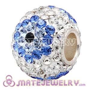 10X13 Charm European Beads With 130pcs Austrian Crystal In 925 Silver Core