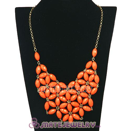 2012 New Fashion Coran Red Bubble Bib Statement Necklace