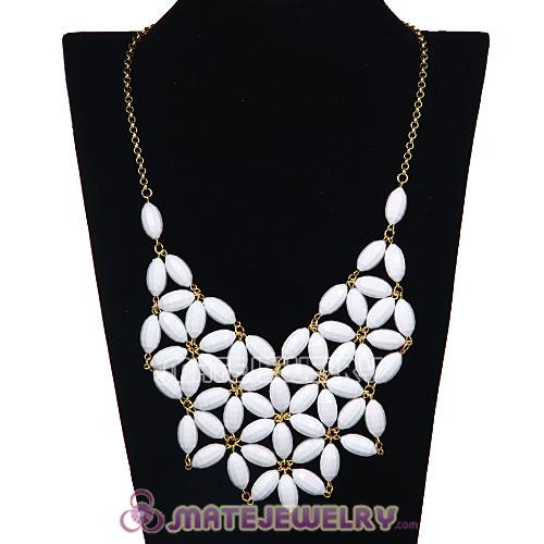 2012 New Fashion White Bubble Bib Statement Necklace